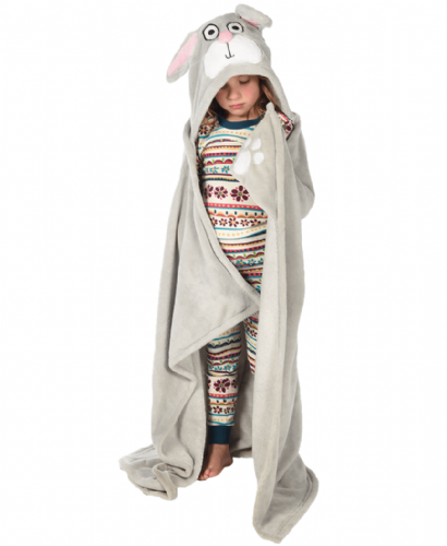 Bunny Hooded Critter Blanket | LazyOne®